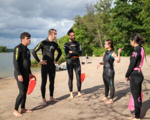 Open water swimming course for asylum seekers